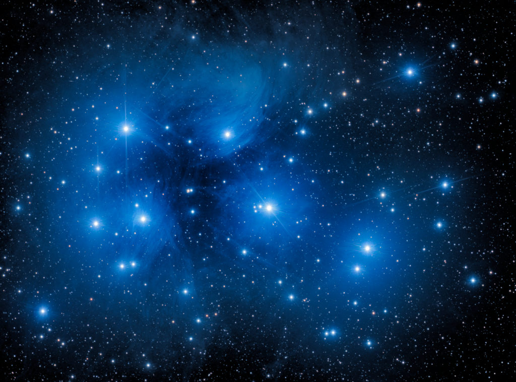 The Seven Sisters also known as the Pleiades